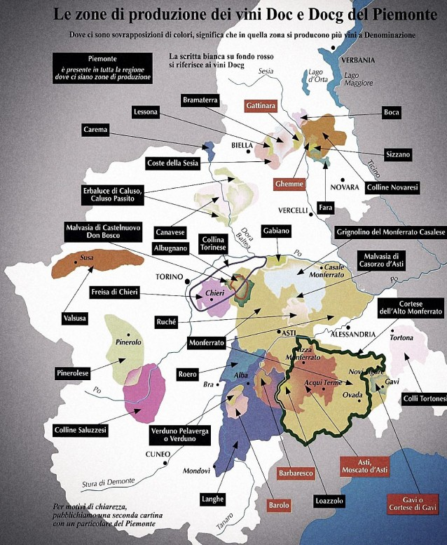 Piedmont Wine Regions